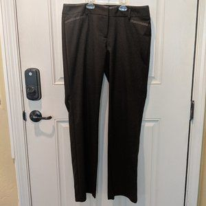 Brown straight leg dress pants